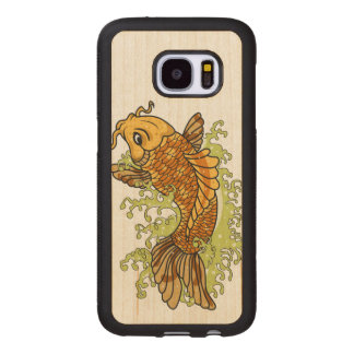 Bunter Goldfisch Koi Samsung Galaxy S7 Holzhülle