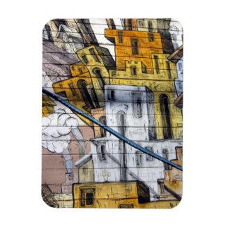 Bunter Graffiti-Haus-Entwurf in San Francisco Magnet