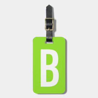 Bunter grüner Monogrammreise-NeonGepäckanhänger Gepäck Anhänger