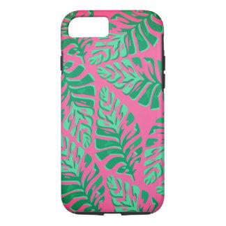 Bunter grüner und rosa Blätter iPhone Kasten iPhone 8/7 Hülle