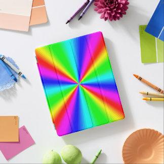 Bunter heller Regenbogen iPad Hülle