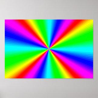 Bunter heller Regenbogen Poster