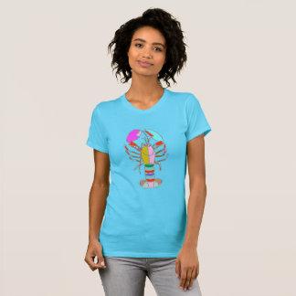 Bunter Hummer-heller blauer Sommer-T - Shirt