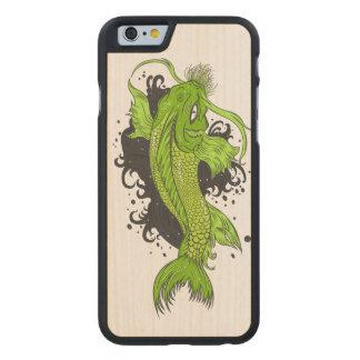 Bunter Japaner Koi Carved® iPhone 6 Hülle Ahorn
