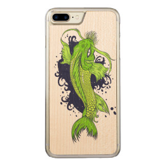 Bunter Japaner Koi Carved iPhone 8 Plus/7 Plus Hülle