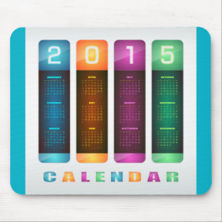 Bunter Kalender elegante 2015 Mauspad