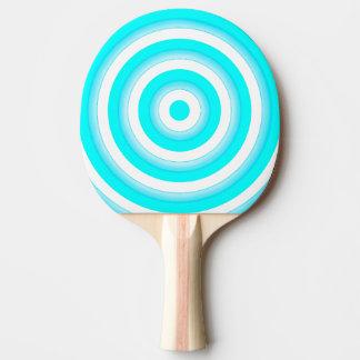 Bunter konzentrische Kreis-Klingeln Pong Schläger Tischtennis Schläger