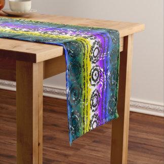 Bunter Krawatten-Batik-Entwurfs-Tabellen-Läufer Kurzer Tischläufer