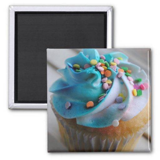 Bunter Kuchen-Fotografie-Magnet Magnets