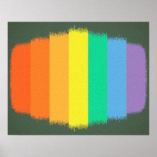 Bunter Kunst-Regenbogen streicht Hintergrund Poster