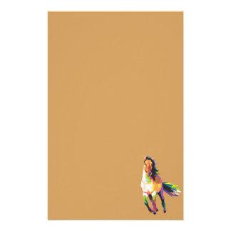Bunter laufender Pferdestallions-Reiter Briefpapier