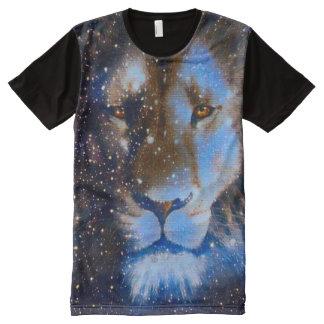 Bunter Löwe-Tierkreis-Geist-Tierphantasie-Kunst T-Shirt Mit Bedruckbarer Vorderseite