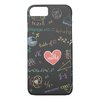 Bunter Mathematik-Formel-Telefon-Kasten iPhone 8/7 Hülle