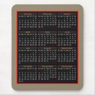 Bunter Maus-Auflage Kalender für 2016 Mauspads