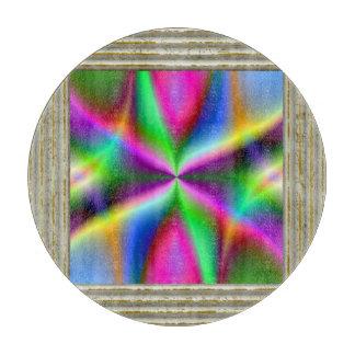 Bunter metallischer Fraktal-Glanz Schneidebrett