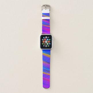 Bunter modischer Regenbogen-gewellte Streifen Apple Watch Armband