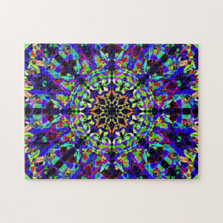 Bunter MosaikMandala | friedlich Puzzle