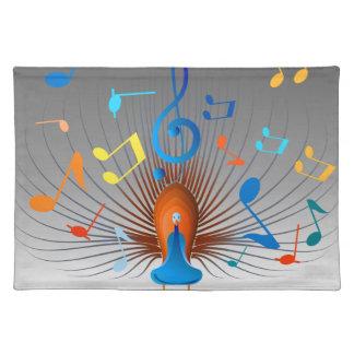Bunter musikalische Anmerkungs-Pfau Tischset