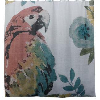 Bunter Papageien-Duschvorhang Duschvorhang