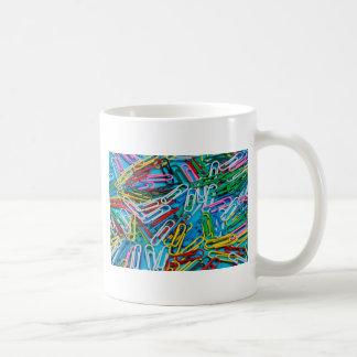 Bunter Papierklammerdruck Kaffeetasse