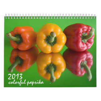 bunter Paprika Abreißkalender