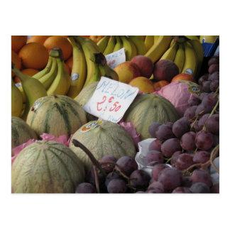 Bunter Paris-Obstmarkt Postkarte