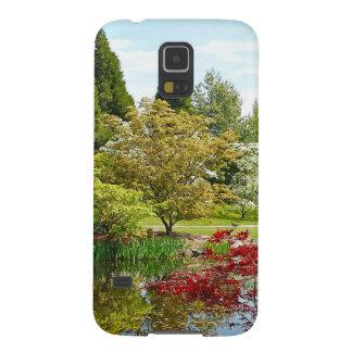 Bunter Park des botanischen Gartens Samsung Galaxy S5 Hüllen