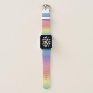 Bunter Pastellregenbogen Apple Watch Armband