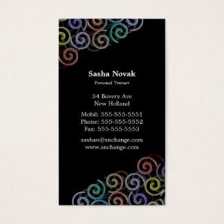 Bunter persönlicher Trainer der Spiralen-| Visitenkarte
