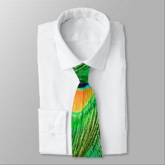 Bunter Pfau-Feder-Druck Individuelle Krawatte