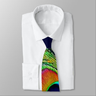 Bunter Pfau-Feder-Druck Krawatten