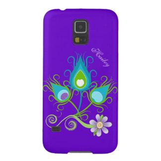 Bunter Pfau versieht Kasten Samsung-Galaxie-S5 mit Samsung Galaxy S5 Cover