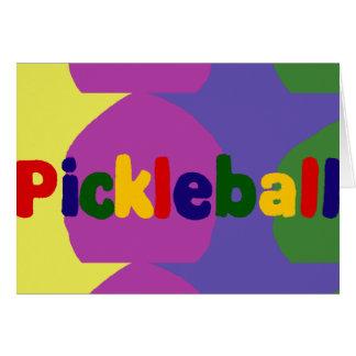 Bunter Pickleball Buchstabe-Kunst-Entwurf Karte