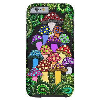 Bunter Pilz-Telefon-Kasten Tough iPhone 6 Hülle
