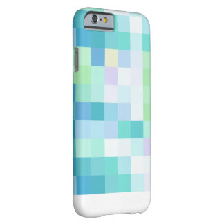 Bunter Pixellated blauer Ozean iPhone 6/6s Kasten Barely There iPhone 6 Hülle