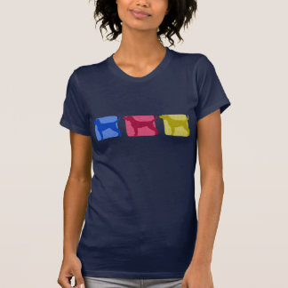 Bunter Plott Jagdhund-Silhouette-T - Shirt