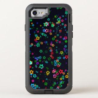 Bunter Pop-Neon-Stern OtterBox Defender iPhone 8/7 Hülle