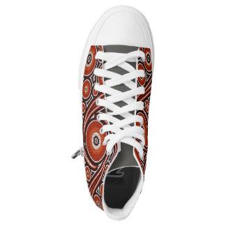 Bunter psychedelischer Mosaik-Entwurf Hoch-geschnittene Sneaker