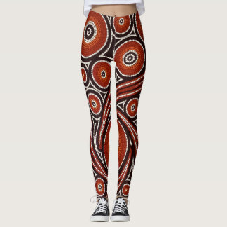 Bunter psychedelischer Mosaik-Entwurf Leggings