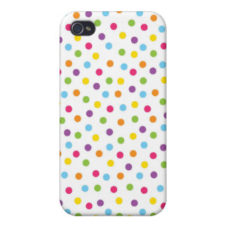 Bunter Regenbogen-Tupfen kreist Fall iPhone4 ein iPhone 4/4S Case