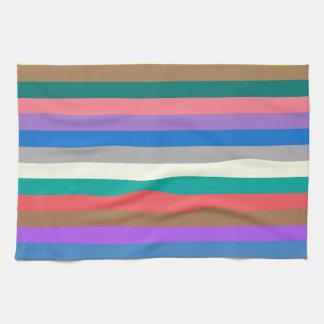 Bunter Regenbogen zeichnet Muster Handtuch