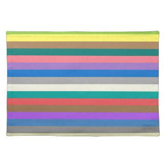 Bunter Regenbogen zeichnet Muster Tischset