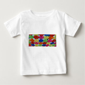 Bunter Regenschirm Baby T-shirt