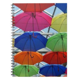 Bunter Regenschirm Notizblock