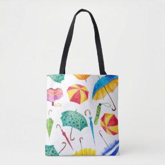 Bunter regnerischer Tag Tasche