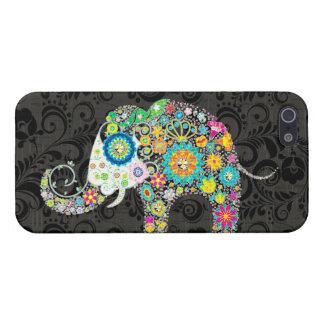 Bunter Retro Blumen-Elefant-Entwurf 4 iPhone 5 Case