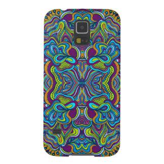Bunter Retro psychedelischer abstrakter Wirbel Samsung Galaxy S5 Hülle