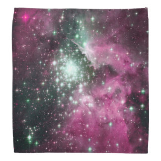 Bunter rosa u. lila Galaxie-Trendy Nebelfleck Halstücher