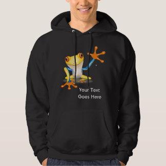 Bunter roter mit Augen Baum-Frosch mit Ihrem Hoodie