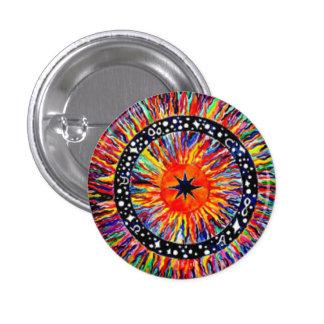 Bunter runder Knopf Runder Button 3,2 Cm